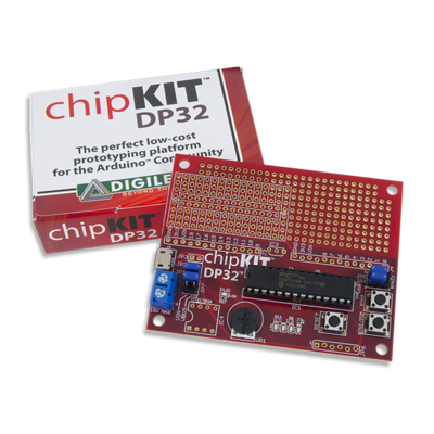 chipKIT DP32 - DIP Package Prototyping Microcontroller Board